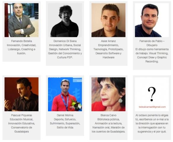 Ponentes de TEDxAlcarriaSt 2013