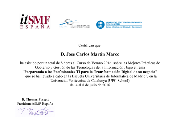 CertificadoITSMF_Verano16
